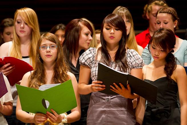 Chor in der Historischen Stadthalle Wuppertal