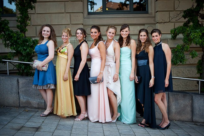 Abiball Gruppenfoto only Ladies