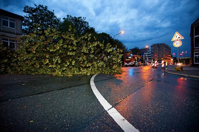 Folgen des Unwetters in Wuppertal am 18.08.2011