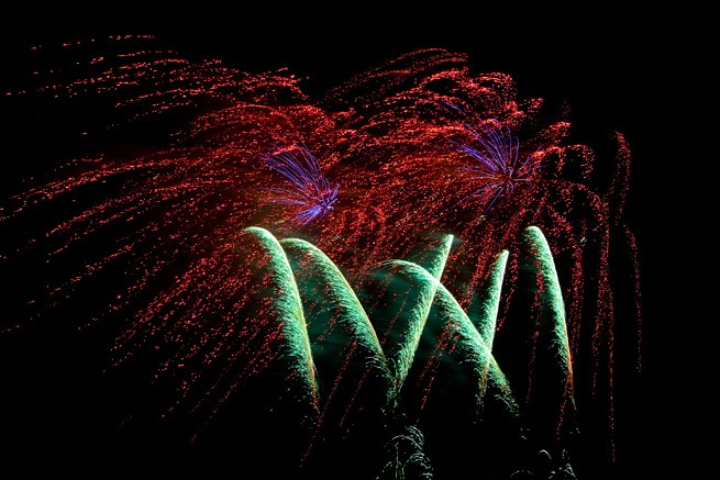 Blinker Feuerwerk