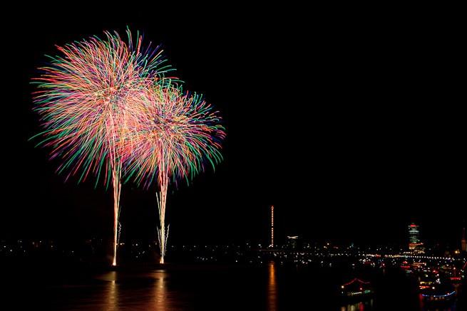 Japantag Feuerwerk Düsseldorf 2011