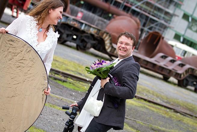 Hochzeitsfotos Henrichshütte mit Assistenten