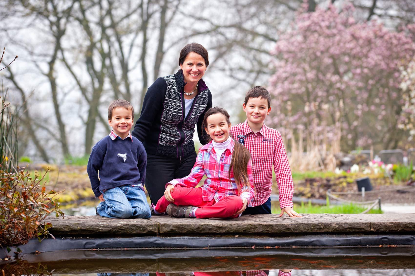 Familienfoto im Botanischen Garten