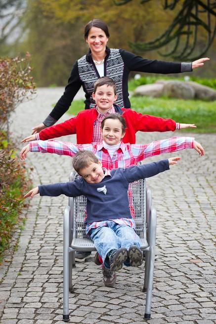 Familie im Landeanflug