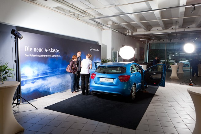 """""""Making of"""" Mercedes Benz Fotoshooting in Wuppertal"""