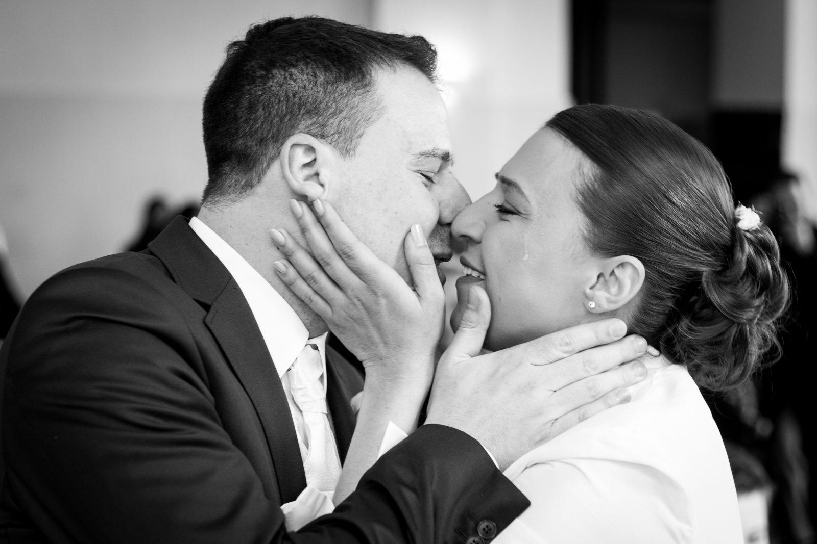 Hochzeitsreportage Dortmund Momentaufnahme in Schwarz-Weiß