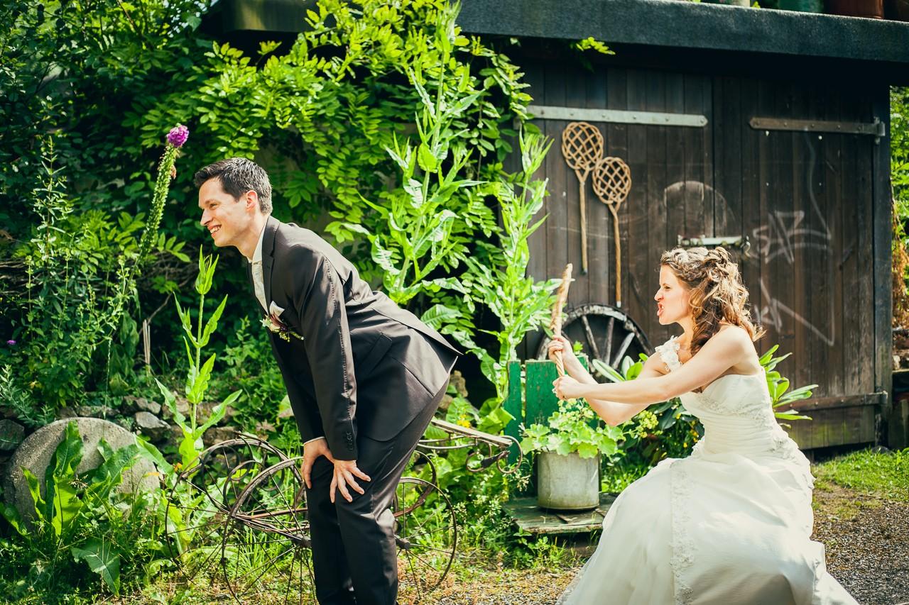 witziges Hochzeitsshooting