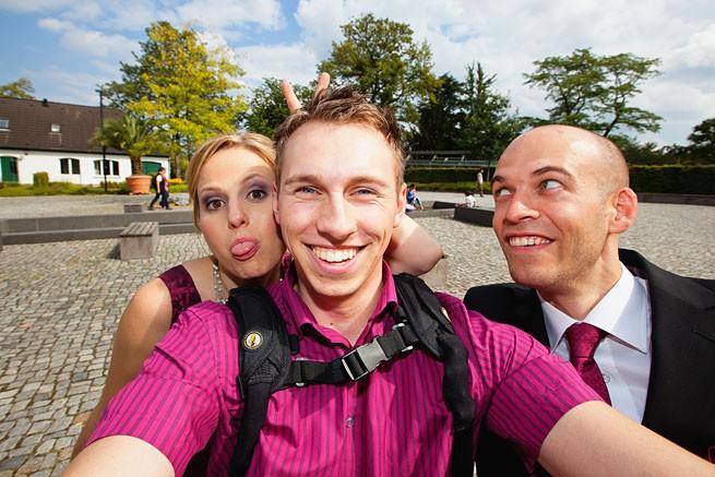 Spaß mit dem Brautpaar