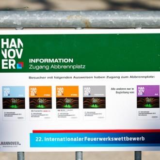 Mein Foto auf den Ausweisen des 22. Internationalen Feuerwerkswettbewerbs in Hannover 2012
