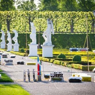 Feuerwerkskörper in den wunderschönen Gärten in Hannover