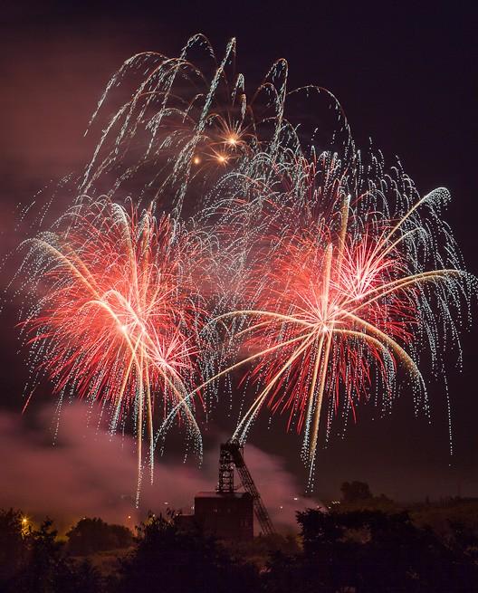Feuerwerk in Oberhausen Sterkrade am 11.06.2012