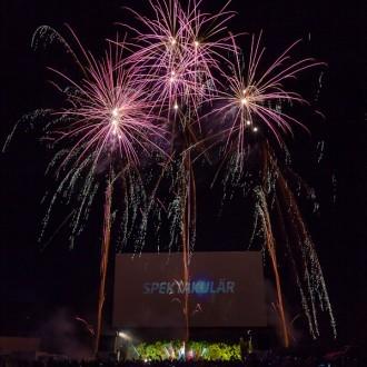 Feuerwerk beim Michael Wendler Konzert 2012 in Essen