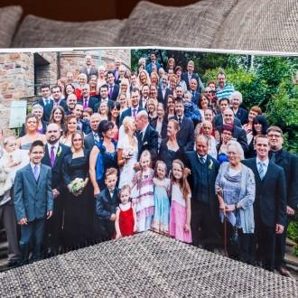 Gruppenfoto im hochwertigen Fotobuch
