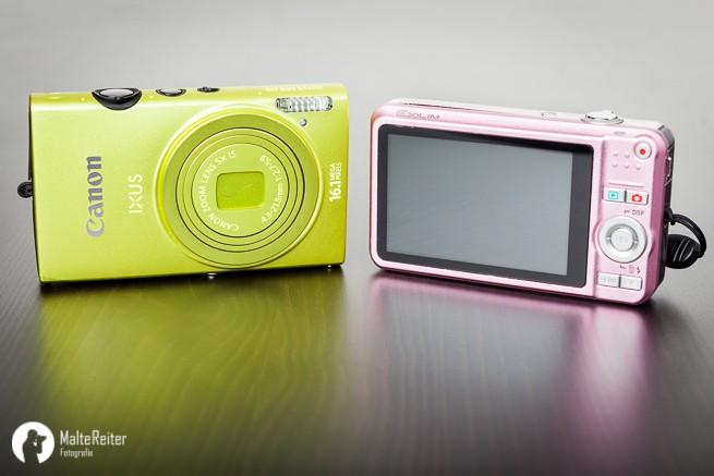 Kompaktkameras gibt es in allen Farben