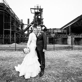 Hochzeit vor der Zeche