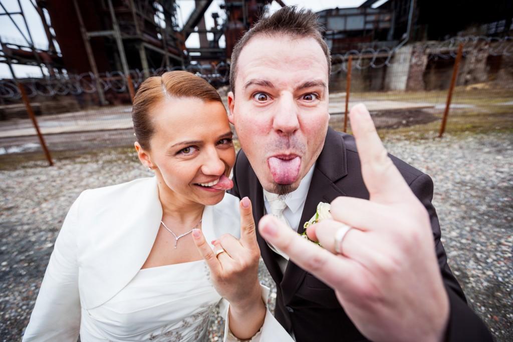 Hochzeitsreportage Dortmund witzige Hochzeitsfotos