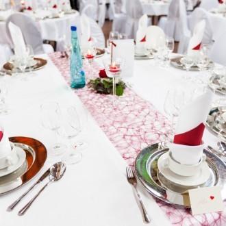 dekorierte Hochzeitstische