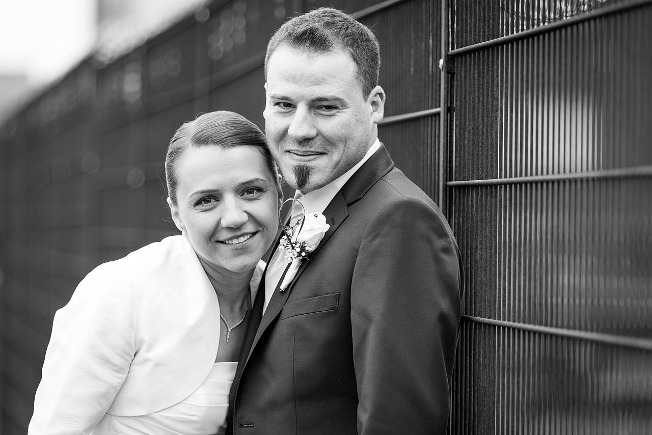 Brautpaar schwarz weiss