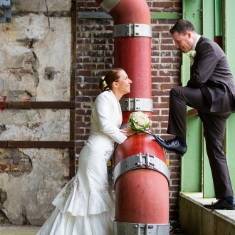 modernes Hochzeitsshooting
