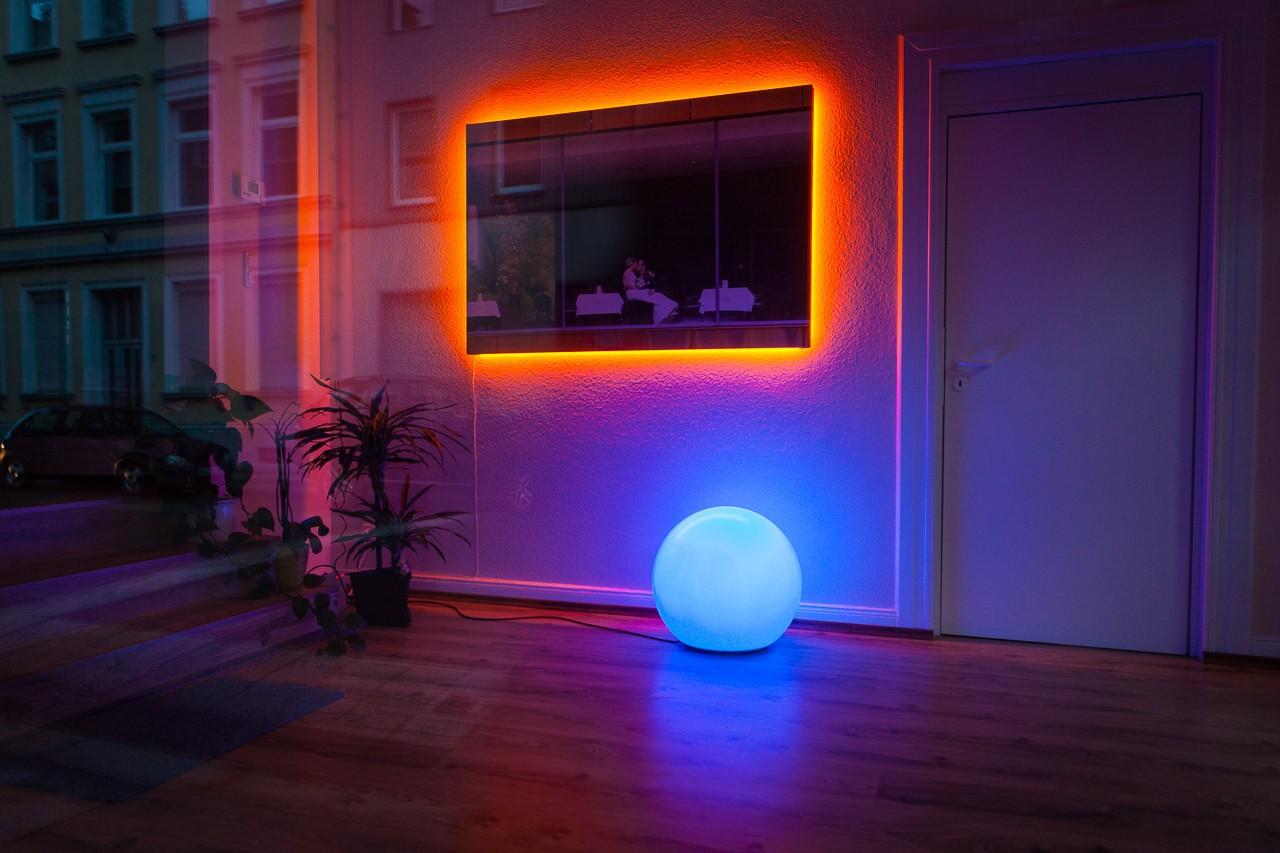 LED-Kugel mit Musik