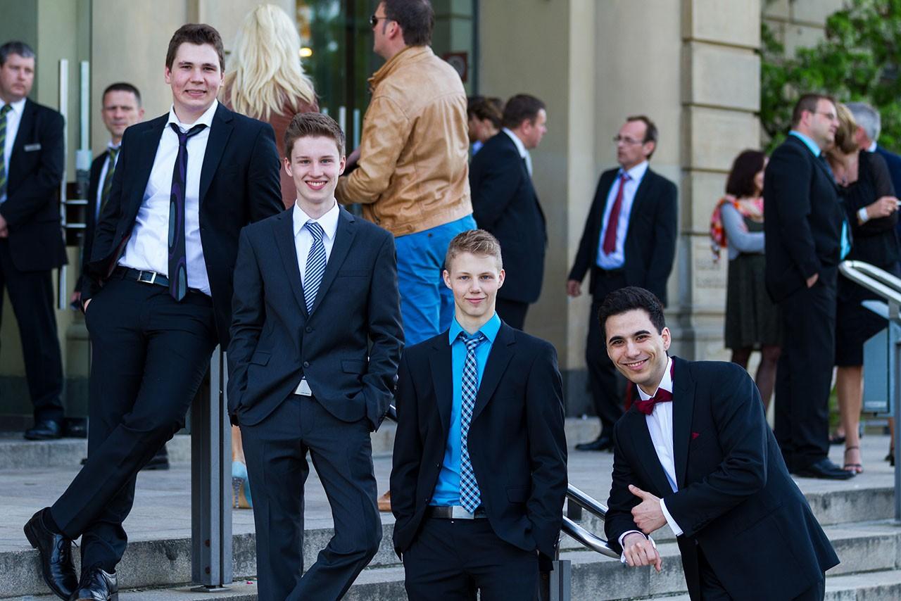 Spontanes Gruppenfoto