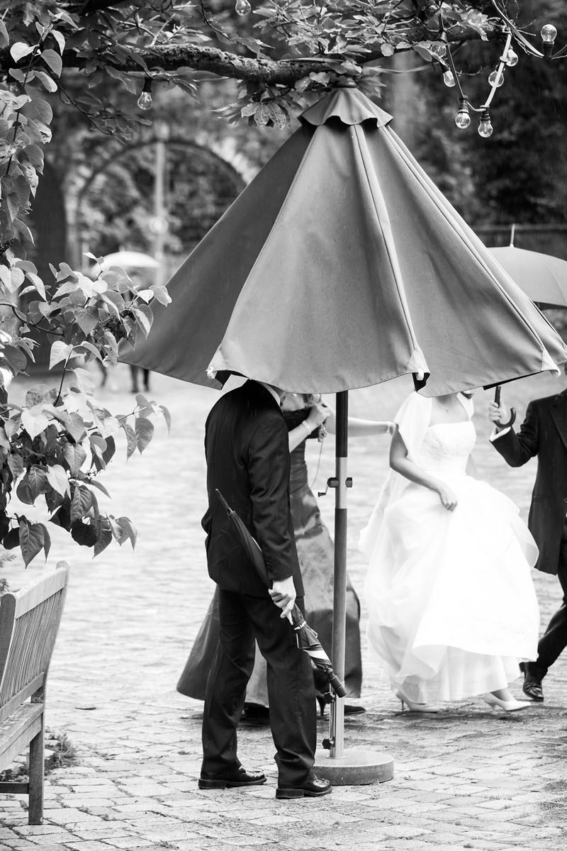 Hochzeit bei schlechtem Wetter