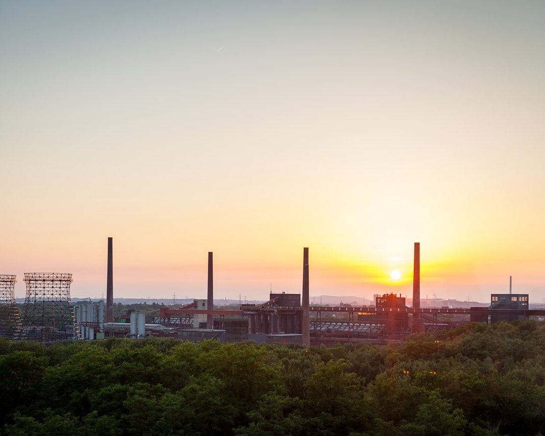 Sonnenuntergang Location Zeche Zollverein Erich-Brost-Pavillon