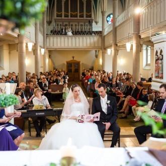 Trauung in der evangelischen Kirchengemeinde Herzkamp