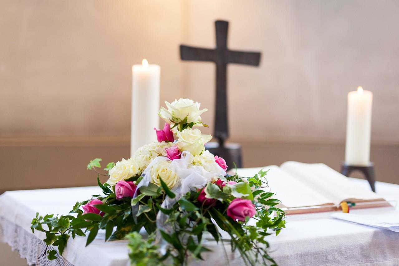 Blumen evangelische Kirche Tönisheide