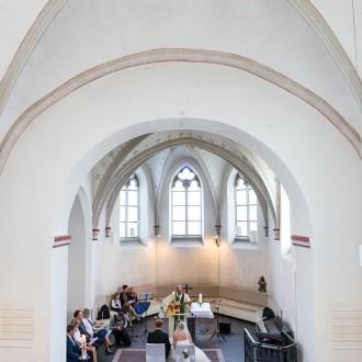 evangelische Kirche Tönisheide von oben