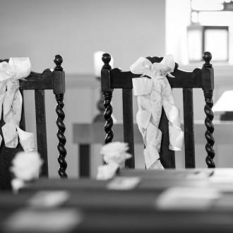 Hochzeitsdeko in der windrather Kapelle Velbert