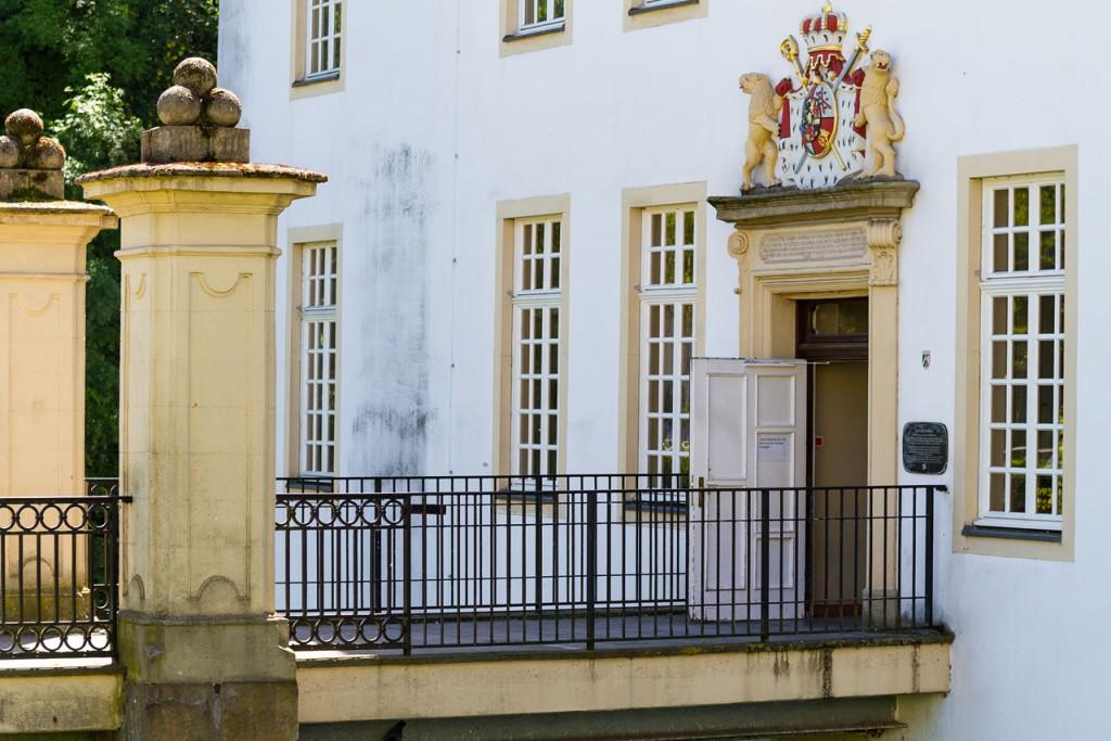 Eingang Schloss Borbeck in Essen
