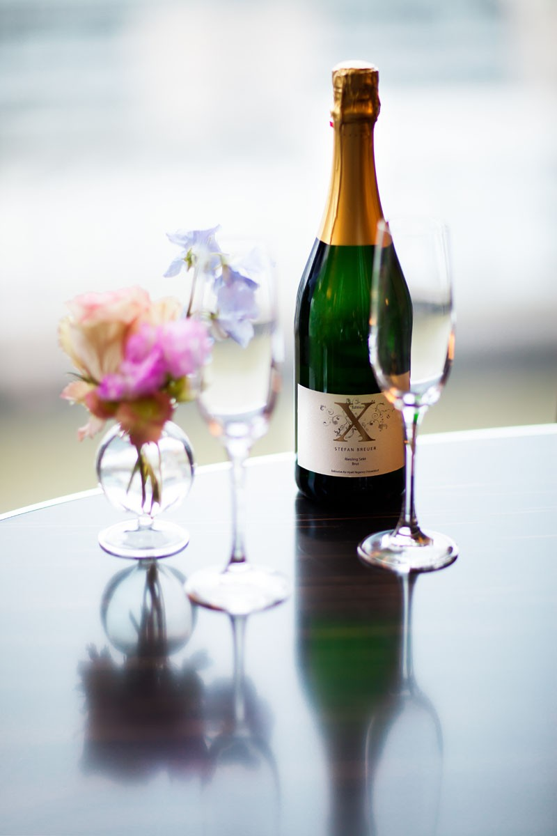 Champagne with glass
