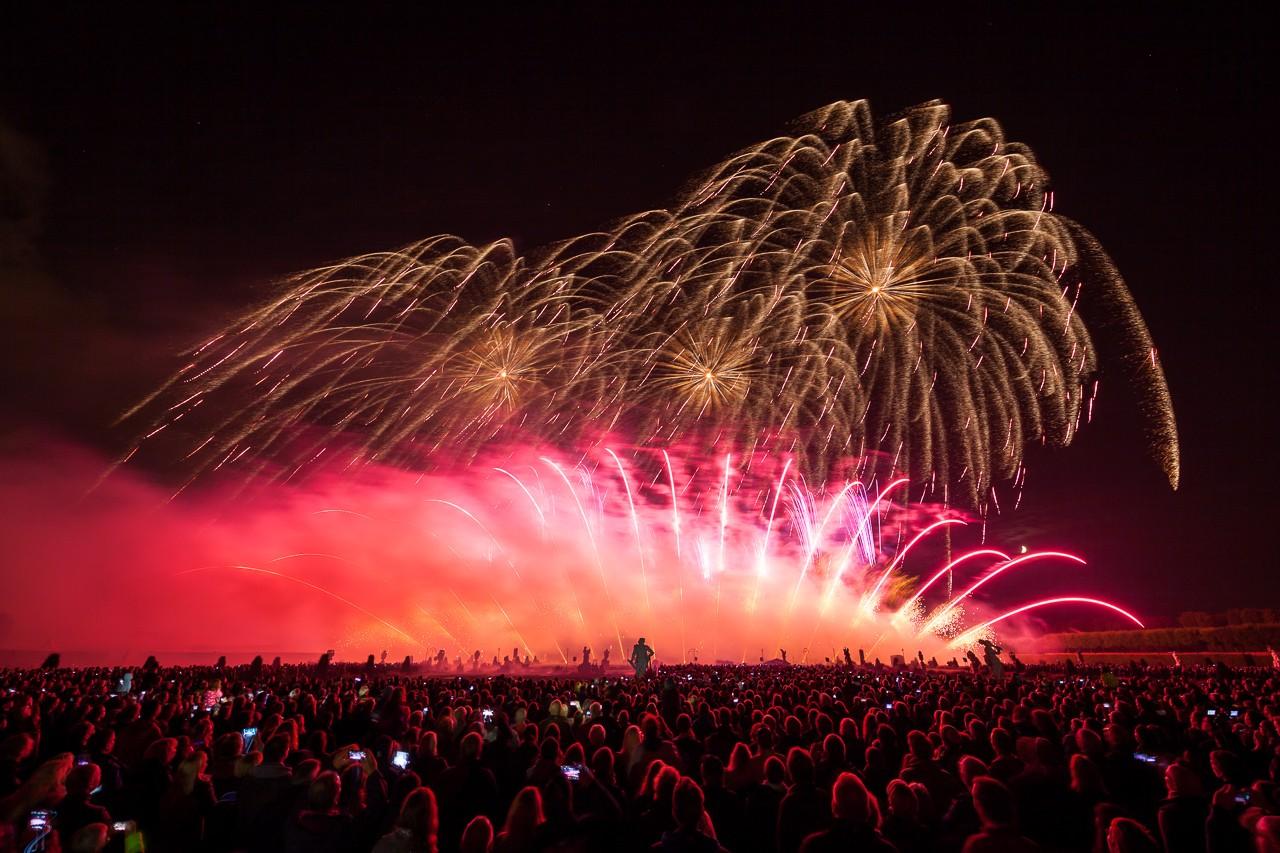 Foto internationaler feuerwerkswettbewerb hannover
