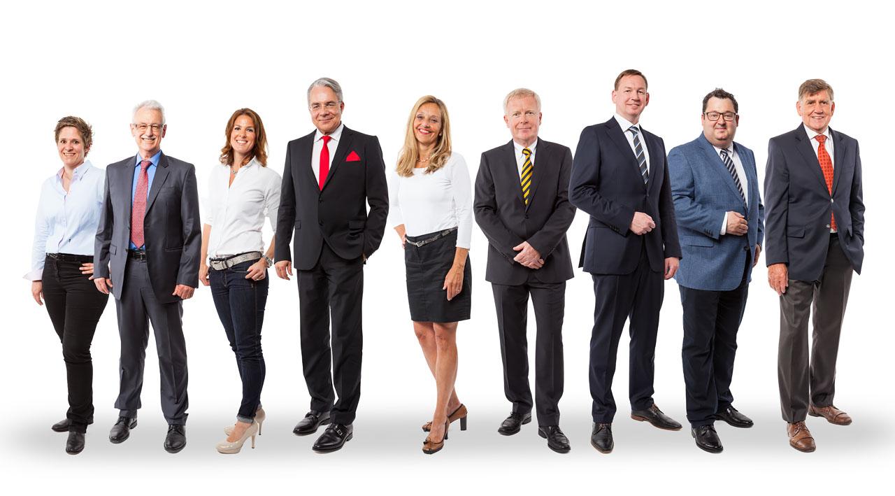 Gruppenfoto mit Ärzten
