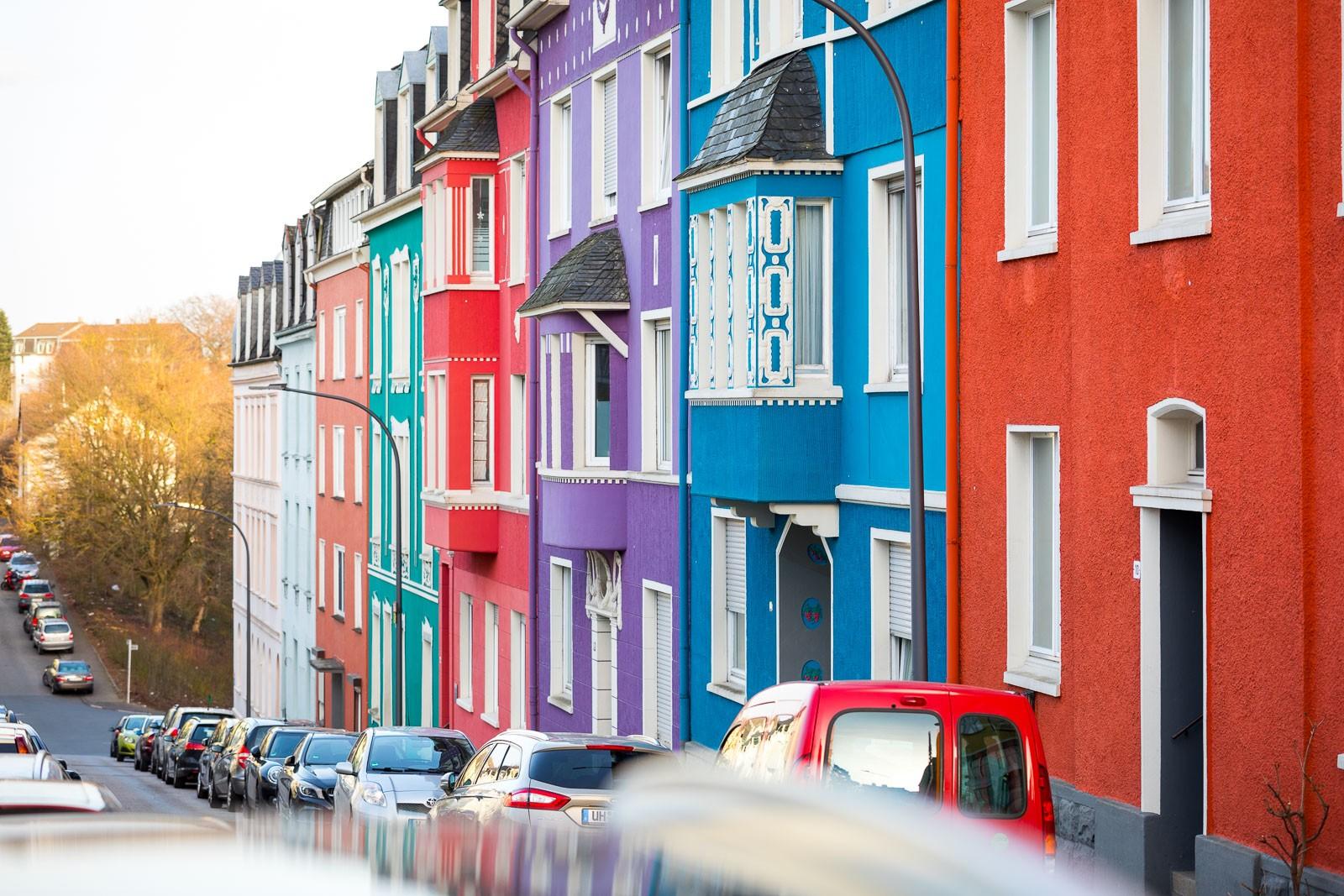 Bunte Häuser in Wuppertal