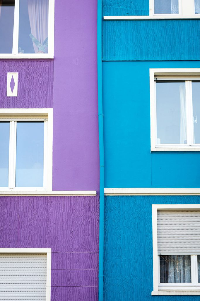 lila und blaues Haus in Wuppertal