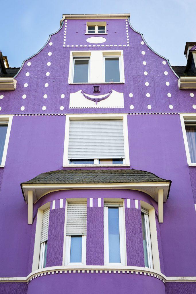 lila Haus in der Elsternstraße in Wuppertal