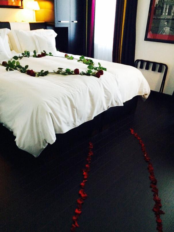 hochzeitsnacht villa ruhrufer Deko Arrangement